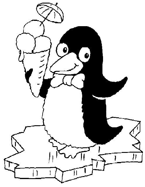 Tierwelt - Coloriage pingouin banquise ...